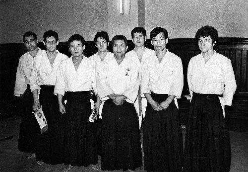 1-marzo-1970-Barcelona-(España)-los-responsables-del-curso-Nakazono,Tamura-y-Kytaura-