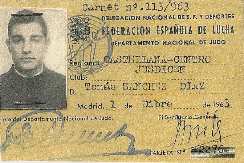 3 Carnet de Judo 1963