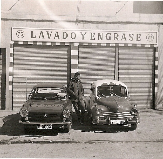 13 Renault 44 y seat coupe 850 madrid 1969