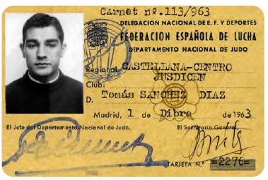Carnet Judo T.Sanchez 1963