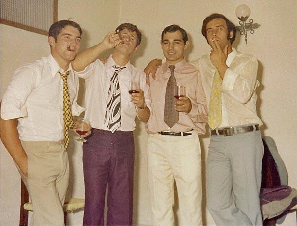 2 Agosto 1971 con mis amigos aikidoka Antonio Ponce Tomas de Miguel y Jose Romero