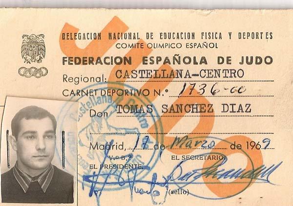 Carnet Federacion Española de Judo