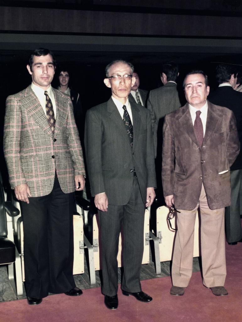 1 Madrid Nov 1975 Creacion F.I.A Kisomaru Uheshiba T.Sanchez B.Pulido