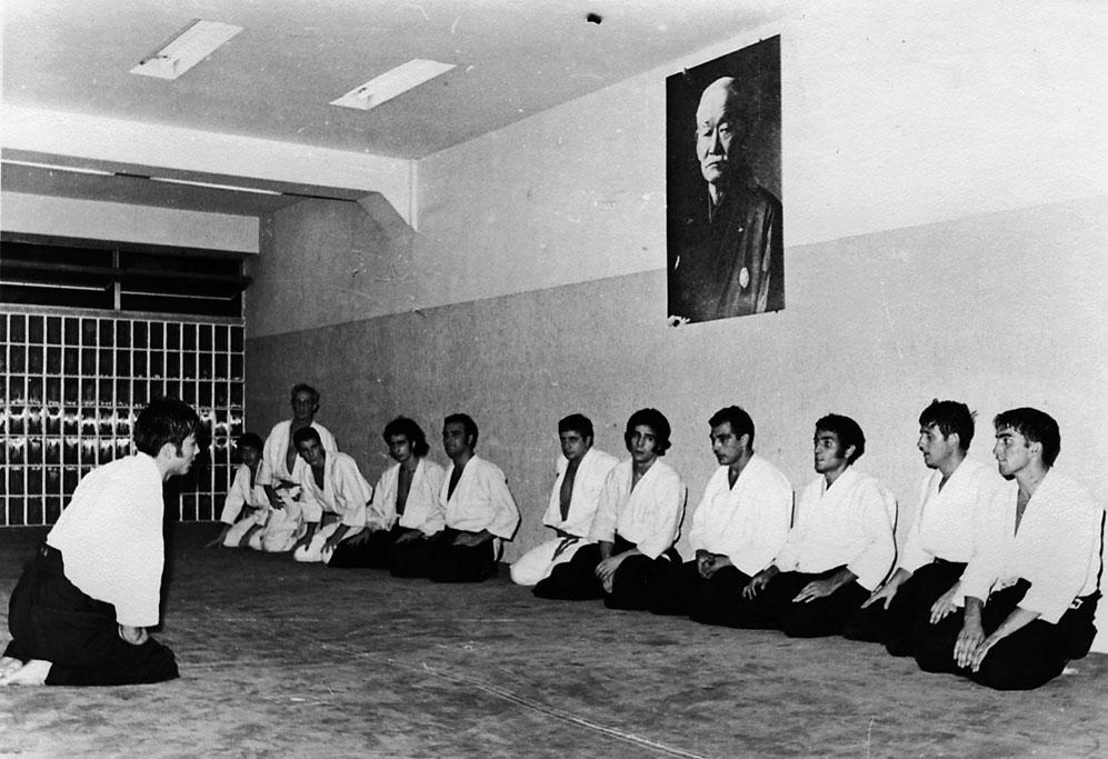 Comienzos del Aikido. Clase ordinaria Impartida por Kitaura sensei Dojo Coyrema Madrid de 7 a 8 h
