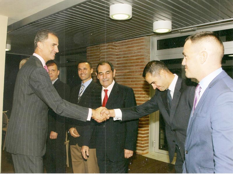 Felipe VI con David Sanchez